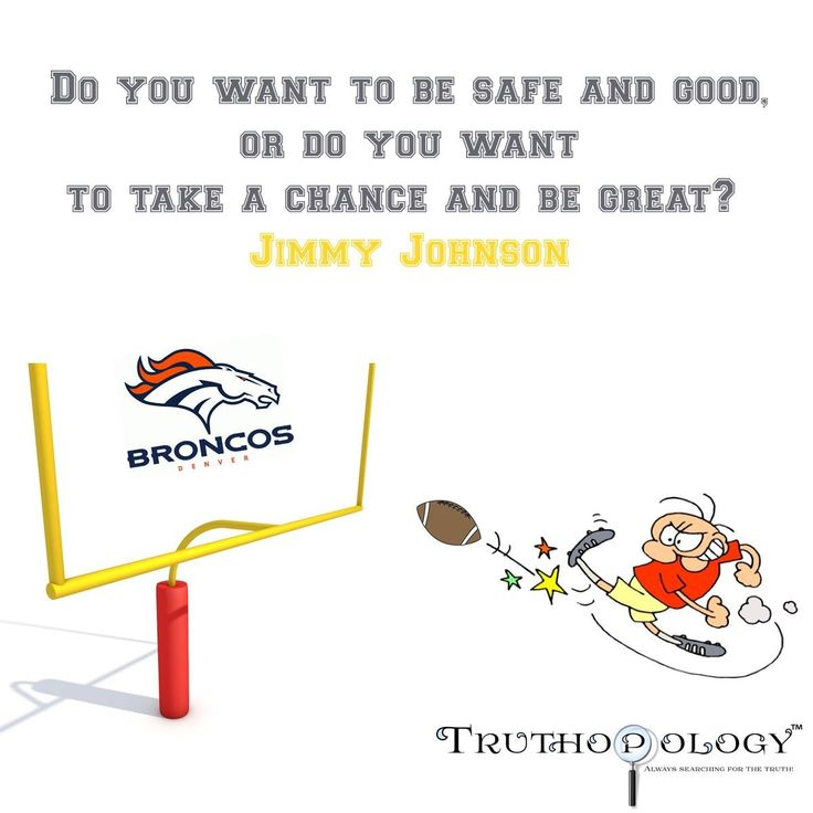Taking a Chance! #JimmyJohnson #Safe #Great #Good #Broncos #Chiefs #SNF #NFL #FieldGoal #Football #Truth #Search #Truthopology