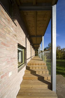 Steel porch house by Földes Architects #stairs