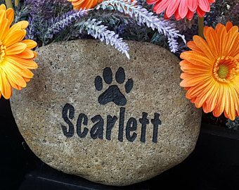 Pet Memorial Stone - Pet Memorial Marker - Garden Pet Memorial - Personalized Pet Memorial - Cat Memorial Stone - Engraved Memorial For Dogs