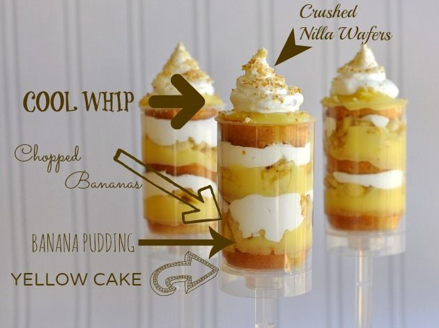 Layered Banana Cream Pie Cake Push Pops