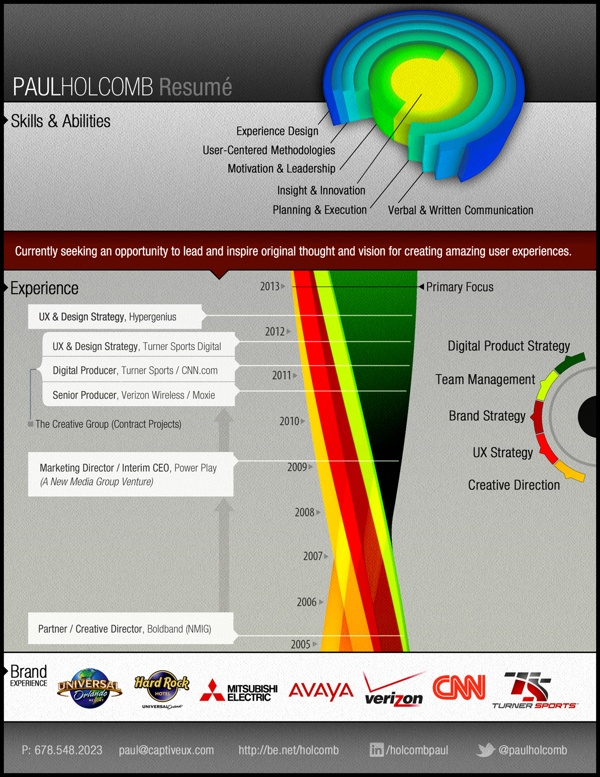 17 best infographic resume images on Pinterest Infographic resume