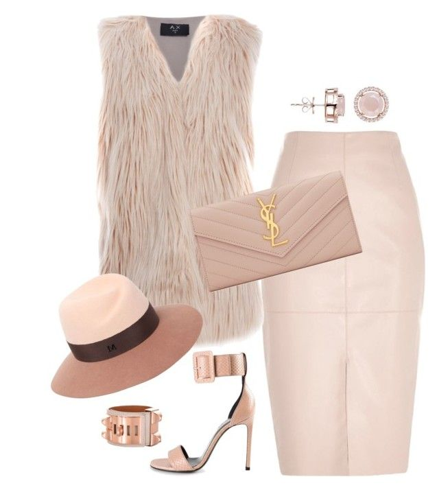 """Just Nasty"" by fashionkill21 ❤ liked on Polyvore featuring Mode, River Island, AX Paris, Maison Michel, Yves Saint Laurent, H.AZEEM und Hermès"