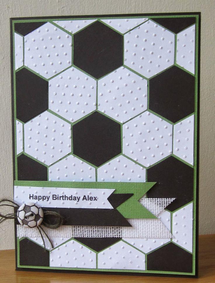 Footie Birthday card by Floral Fantasy                                                                                                                                                     More
