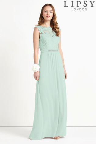 Lipsy Jasmine Jewel Embellished Waist Maxi Dress