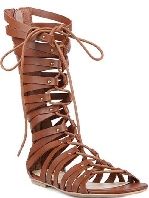 Athena Gladiator Sandal in Tan