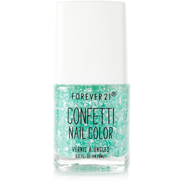 FOREVER 21 Mint Confetti Nail Polish found on Polyvore