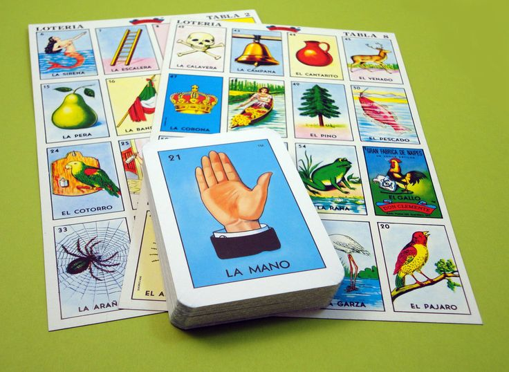 Genuine Mexican Loteria Bingo Game with Flash Cards. $5.00, via Etsy.