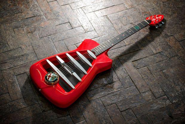 アルファロメオ公認のカスタムギターが受注開始。限定11本、製作期間は8か月 - Engadget Japanese