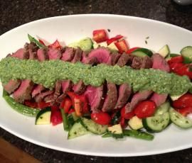 Recipe Beef Fillet, Pistachio Mayonnaise, Crisp Summer Salad by Gayle Rowan - Recipe of category Main dishes - meat