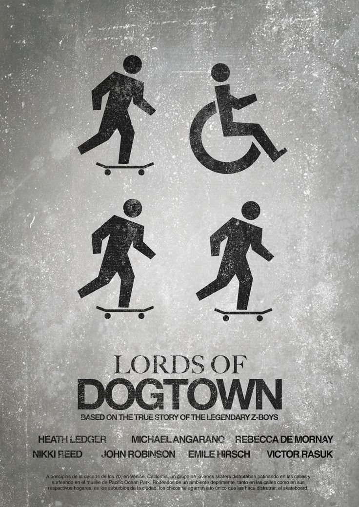 Poster Minimalista con Pictogramas Lords of dogtown