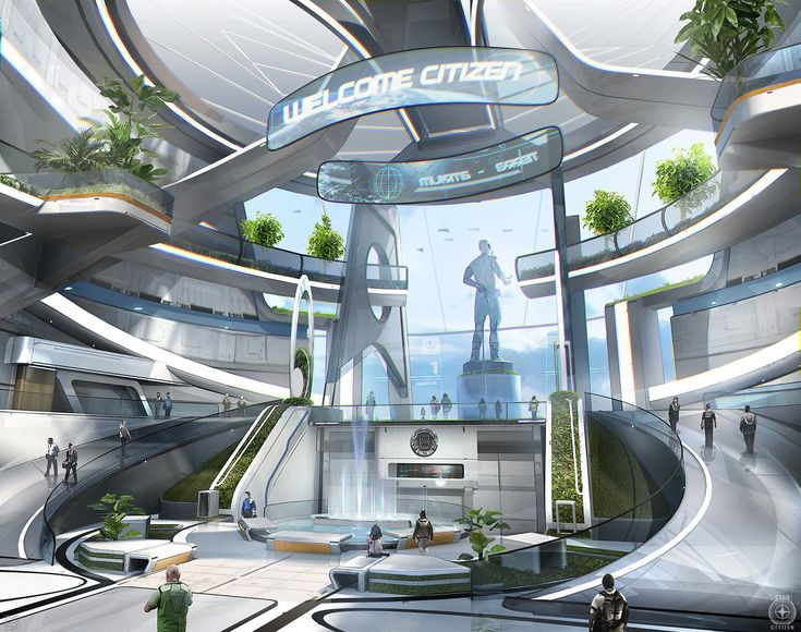 ArtStation - Star citizen - Terra s atrium, Nicolas Ferrand - This concept brings to mind Alex's corporate HQ.