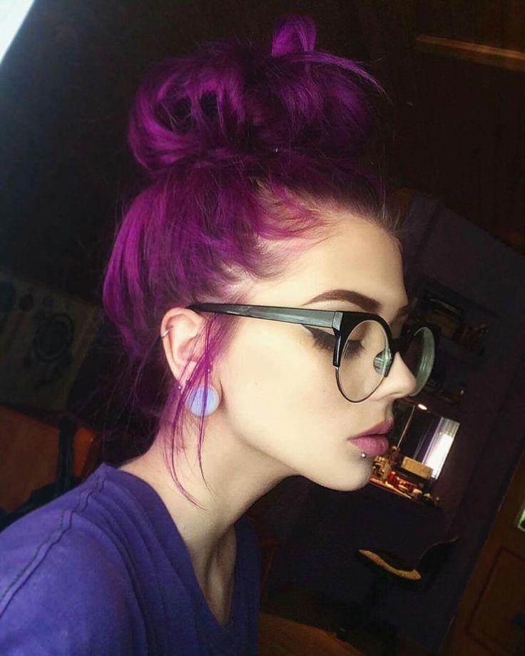 #purplehair #nerdglasses