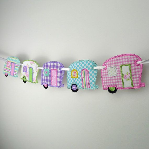 Vintage Camper Banner In The Hoop Project by BigDreamsEmbroidery