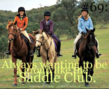 I was that dorky girl who rode around with my friends Annie and Rachel and then we got ice cream after... cuz omg we were sooo the saddle club like yeah... I was THAT cool.