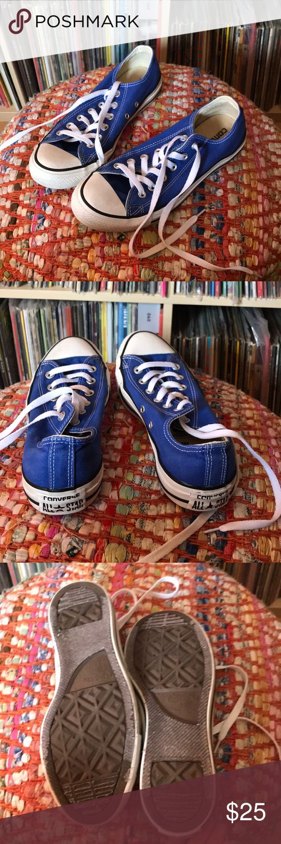 Used — Royal Blue Chucks Men's 7 Women's 9 Euro 40 Used blue Chucks Converse Shoes Sneakers