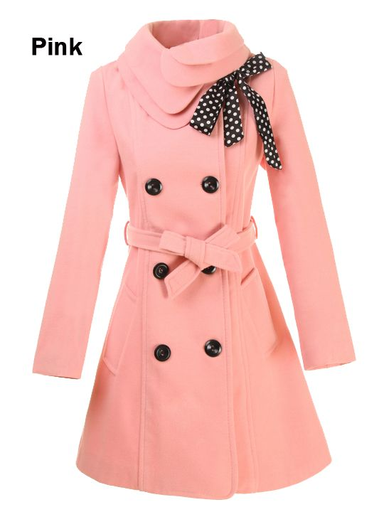 Usually I don't like colorful winter coats, but this is is too cute.