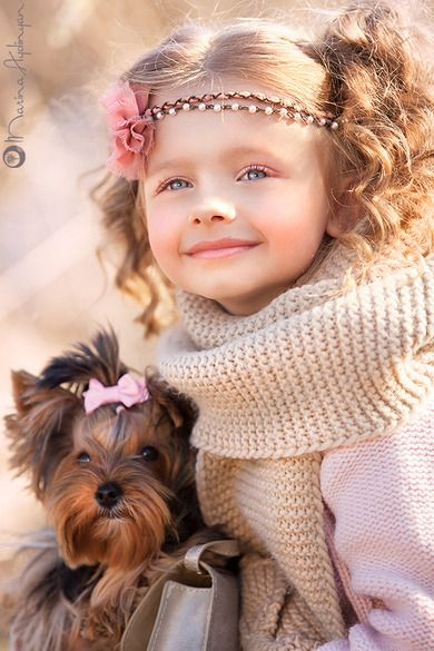 Such Beauty!  With both The Child and The Yorkie!