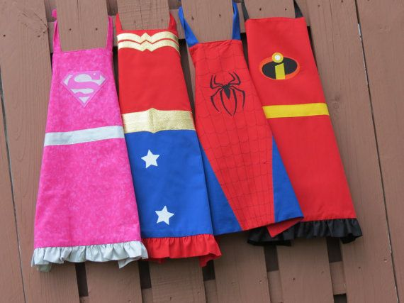 Kids superhero apron for girls or boys chose your hero by SMPstore, $25.00 each