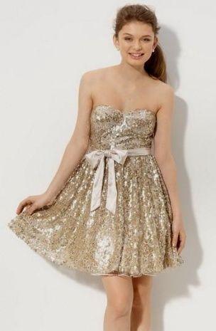 Cheap Gold Dresses For Juniors