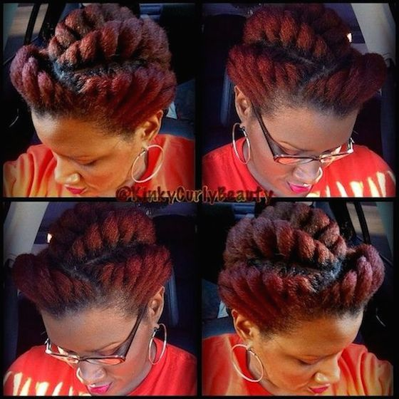 Ten (10) of the Most Gorgeous and Creative Chunky Twist Styles - Black Girl with Long Hair