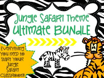 Jungle Safari Animal Print Classroom Bundle! So many resources to start your perfect themed classroom!