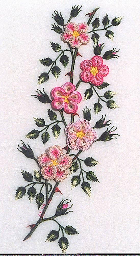 wild rose - Brazilian embroidery                                                                                                                                                      More