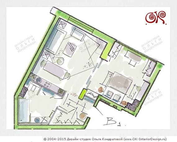 Эскиз планировки лофт http://www.ok-interiordesign.ru/planirovochnye-resheniya-eskizy.php