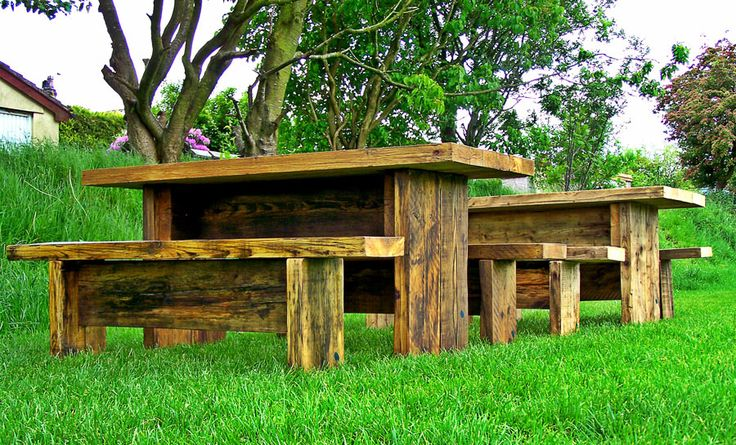 Rustic Twist Garden Table and Bench Sets….