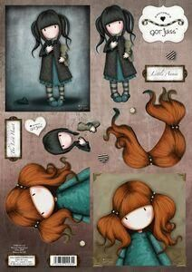 Gorjuss die cut decoupage - Little Annie & The Lost Heart