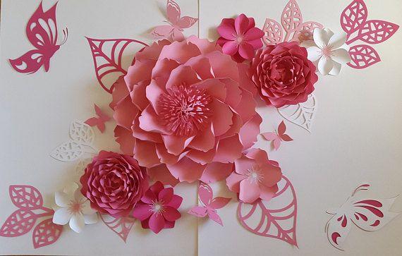 Las 25 mejores ideas sobre decoraci n de pared de flores - Decoracion paredes con papel ...