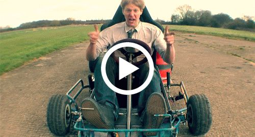 Jet-kart-The most MENTAL kart EVER So it�s finished and it�s brilliant, it�s stable it starts easy and the fuel system after a slight redesign (see website) works perfectly. Top speed so far is 60mph but i run out of airstrip so might be more in it.  Video: http://youtu.be/zsXWspo5hrc   For more info go to colinfurze.com for pics and extras.  Part 1 is here https://youtu.be/U76uh50K_JE  Part 2 is here https://youtu.be/ckar-ukwYH8  Music is by a band called �the rival� and song called �i�m…