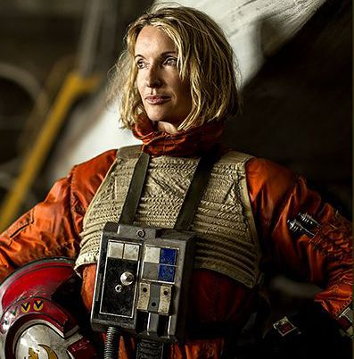 Rebel Pilot from Star Wars Rogue One  <-- LOVE LOVE THE IDEA OF FEMALE X-WING PILOTS. After all who says women can't fly ;)