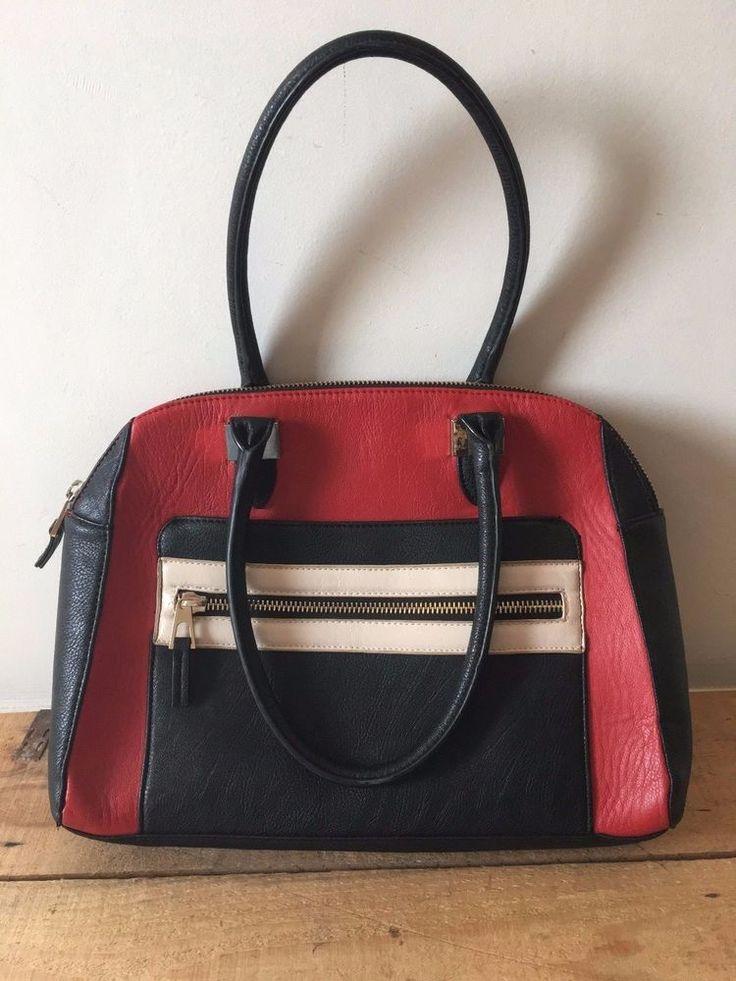 MARKS & SPENCER HANDBAG RED BLACK CREAM LIMITED EDITION    eBay