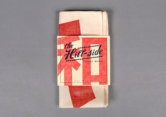 """The Hill-Side """"Wa"""" Woodblock Print Pocket Square for Japan"""