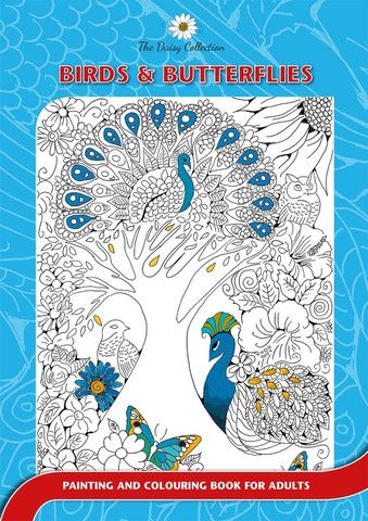 The Daisy Collection - Colouring Books for Adults- Birds and Butterflies