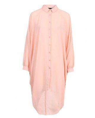 Nude Batwing Shirt Dress