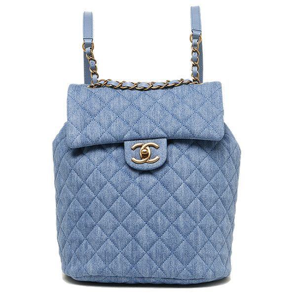 Chanel bags CHANEL A91121 Y60436 2B314 washed denim gold metal... (12.385 BRL) ❤ liked on Polyvore featuring bags, backpacks, knapsack bag, blue backpack, rucksack bags, day pack backpack and daypack bag