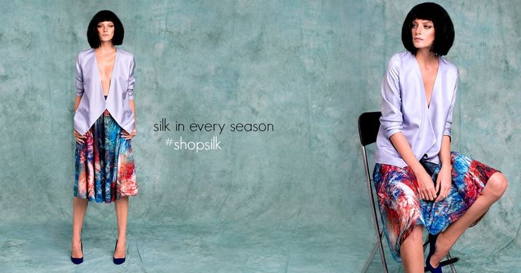 Silk your way with colorful steps.....#silk  #abstractprint #AW15 #midiskirts #lurestore