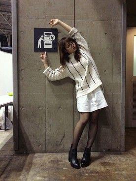 永尾まりや(AKB48)ブーツ「NINE 」Styling looks