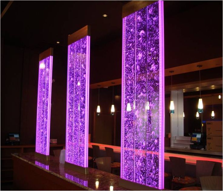 Home Design Basement Ideas: Illuminated Bubble Walls Are Used Both As Design Elements