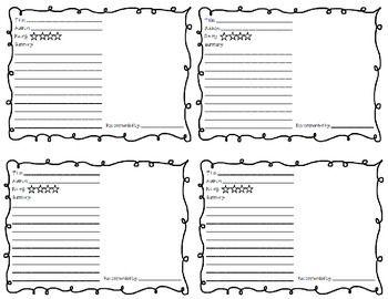 Free!  Shelf Talker Book Recommendation Form
