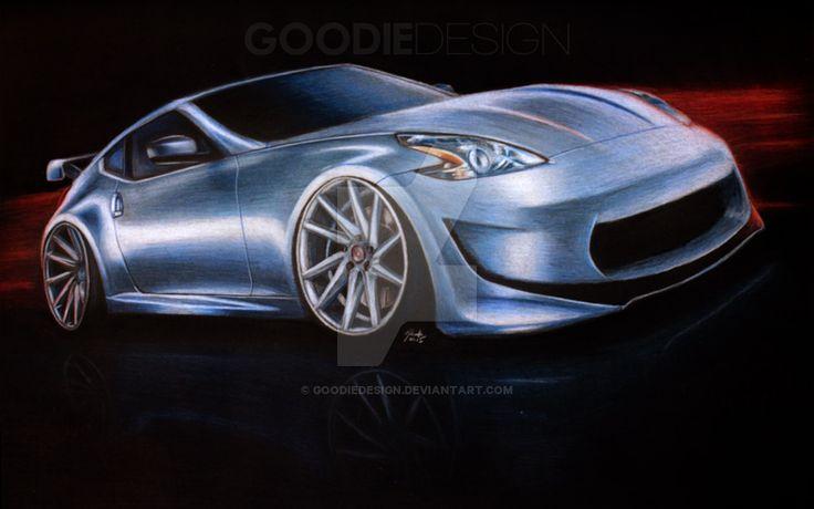 Nissan 370Z on Vossen CVT by GoodieDesign.deviantart.com on @DeviantArt