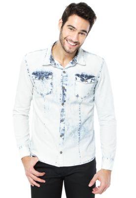 Camisa Calvin Klein Jeans Casual Azul