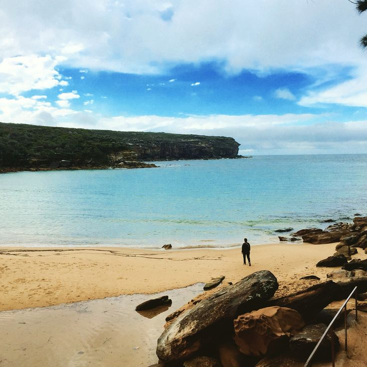A recent solo guest enjoying some serious serenity (if that's possible) at Wattamolla Beach on a South Coast private tour.
