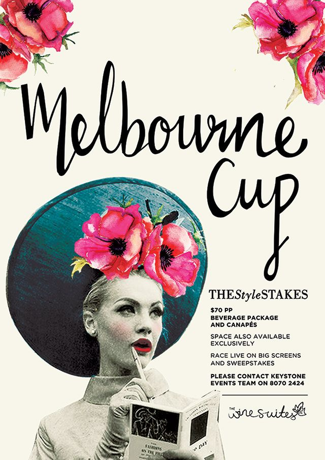 Melbourne Cup Hand Lettering and poster design for the Keystone Group's 2014 Melbourne Cup Campaign -