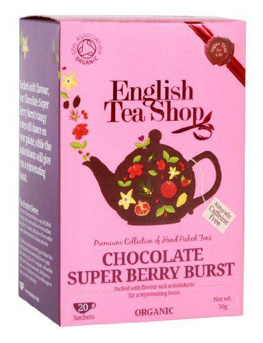 English Tea Shop Organic Chocolate Super Berry Burst Super Teas (Pack of 3, Total 60 Tea Bags) English Tea Shop http://www.amazon.co.uk/dp/B00ED003OQ/ref=cm_sw_r_pi_dp_Laqmub02H64YZ