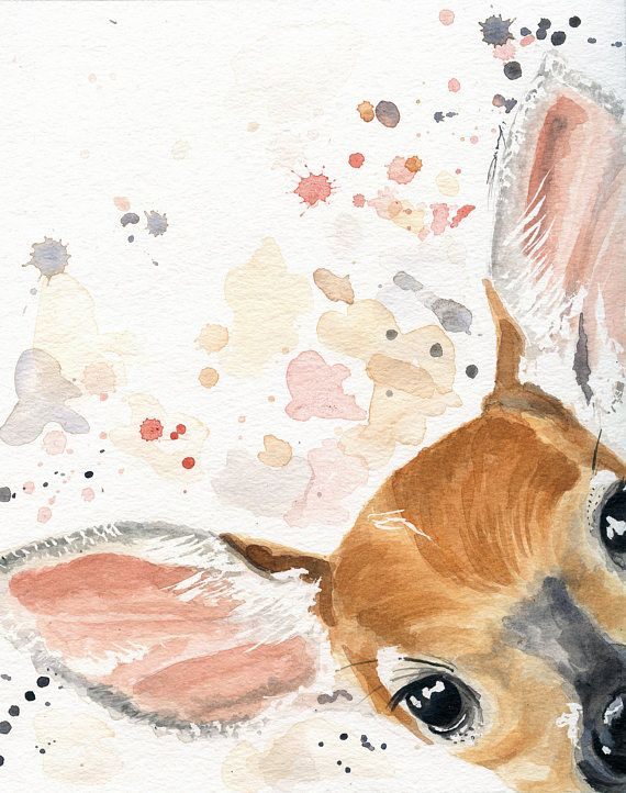 Nursery Decor – Deer Print – Fawn Nursery – Deer Nursery – Woodland Nursery Decor – Cottage Decor – Animal Wall Decor – Otter Gift