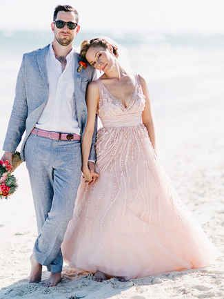28 Gorgeous Blush and Light Pink Wedding Dresses | TheKnot.com
