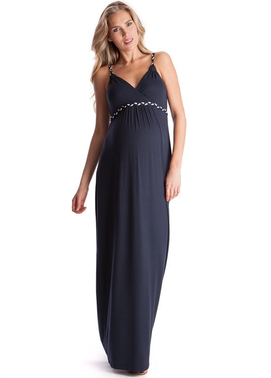 Queen Bee Jemima Plaited Strap Maternity Maxi Dress by Seraphine