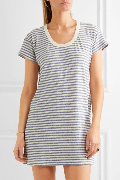 Blue and cream jersey Slips on  50% polyester, 38% cotton, 12% rayon  Machine wash  Designer color: Anchor Stripe